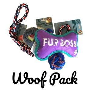 Medium Dog Toy Bundle Woof Pack